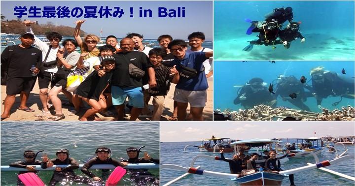 学生最後の夏休み,バリ島で体験ダイビングに挑戦