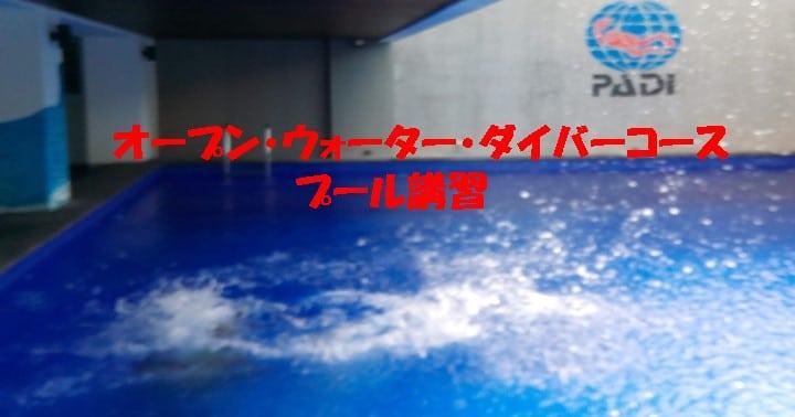 バリ島オープンウォーターダイバーコース:プール講習