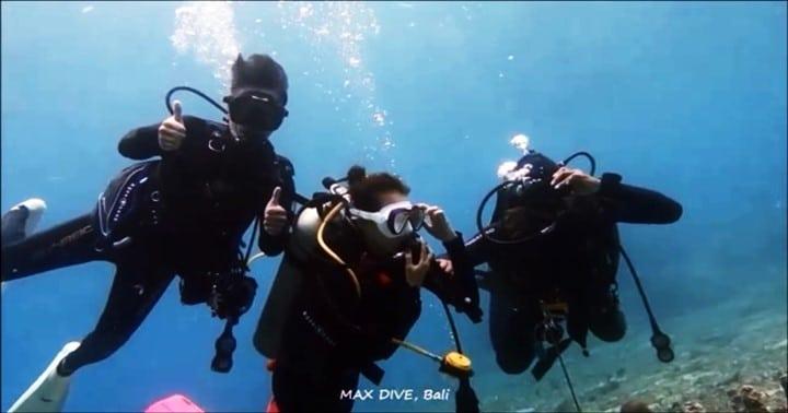 バリ島ヌサペニダ,カップルで体験ダイビング,ファンダイビング