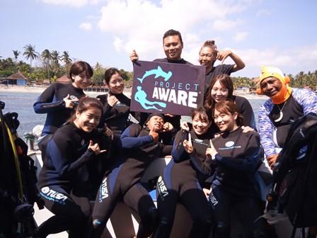 バリ島ヌサペニダでダイビングproject aware week