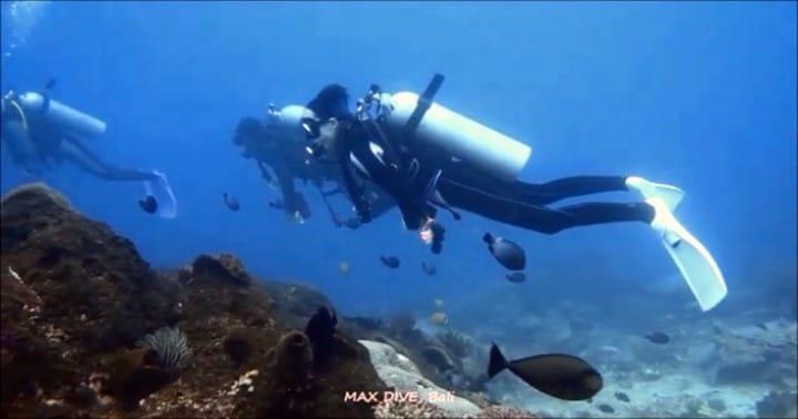 バリ島ヌサペニダでドリフトダイブ