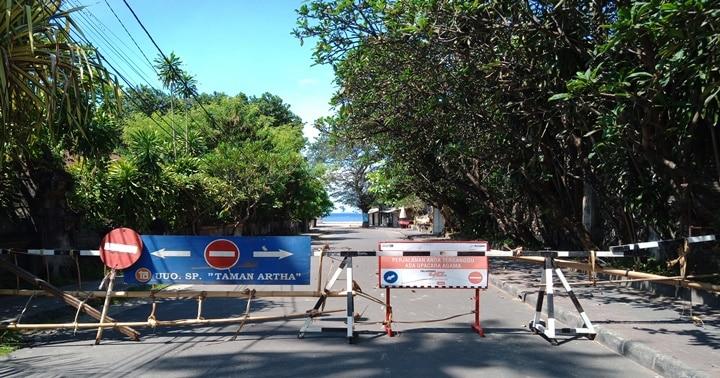 バリ島サヌールビーチ閉鎖