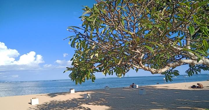バリ島,外出自粛中のサヌールビーチ